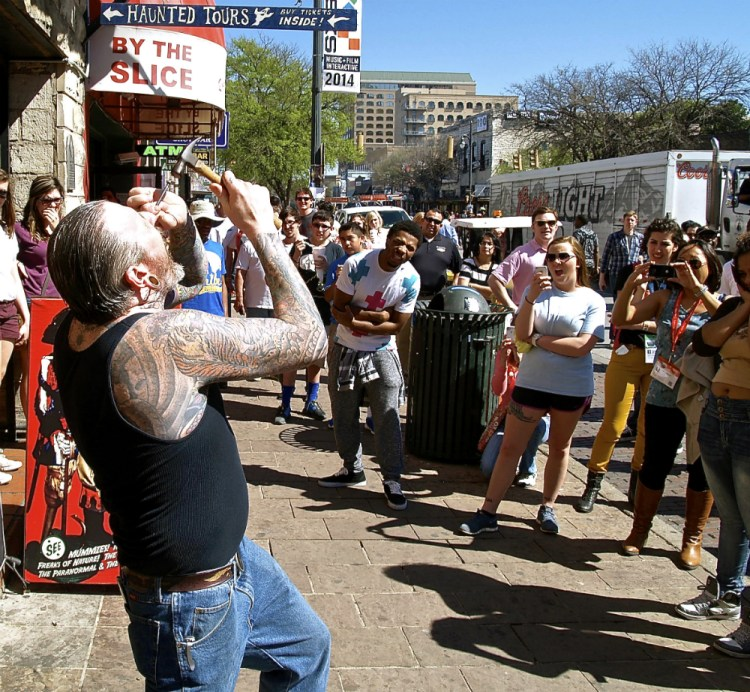 sxsw pictures nail in head