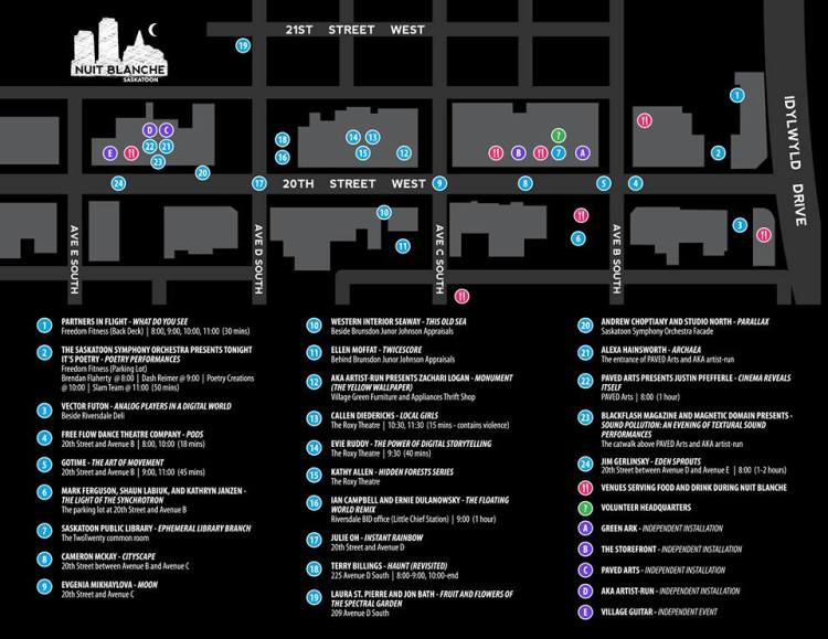 nuit blanche map