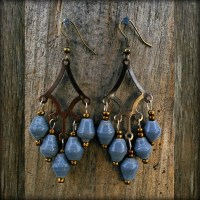 Chandelier Earrings, Dusty Blue