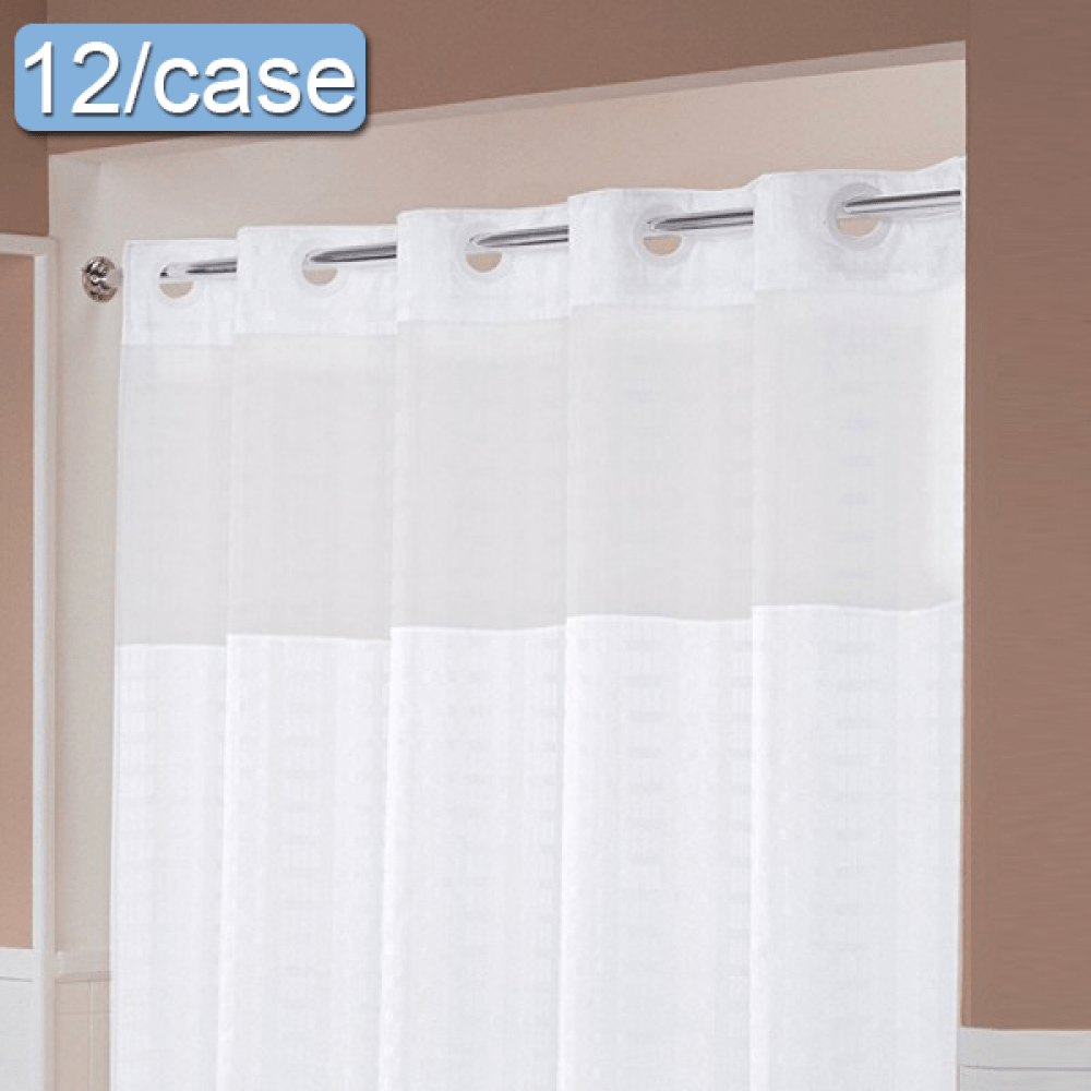 hookless shower curtains patterned with