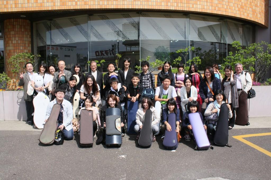 0721音楽セミナー弦楽器部門到着