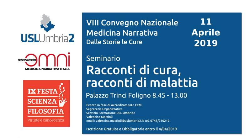 convegno nazionale medicina narrativa foligno dalle storie le cure 2019