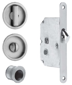 Item No.3910 (Sliding Pocket Door Mortise Lock - Solid Stainless Steel)