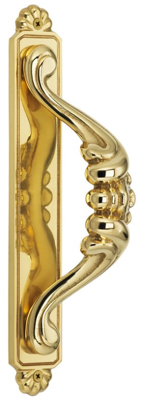 Item No.515 (Door Pull with Backplate - Solid Brass)