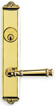 Item No.63904 (Traditional Narrow Backset Lever Lockset - Solid Brass)