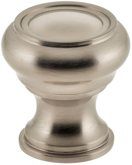 Item No.9045/25 (Traditional Cabinet Knob - Solid Brass) in finish US15 (Satin Nickel Plated, Lacquered)