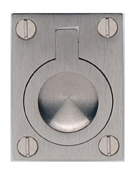 Item No.9587/50 (Rectangular Drop Ring - Solid Brass) in finish US15 (Satin Nickel Plated, Lacquered)
