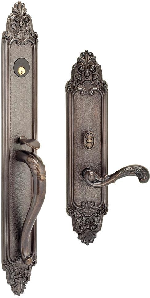 Item No.Georgica w/251 (Exterior Ornate Mortise Entrance Handleset Lockset - Solid Brass)