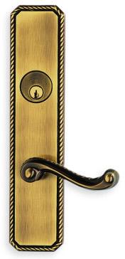 Item No.D24570 (Exterior Traditional Deadbolt Entrance Lever Lockset - Solid Brass )