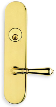 Item No.D3752 (Exterior Traditional Deadbolt Entrance Lever Lockset - Solid Brass )