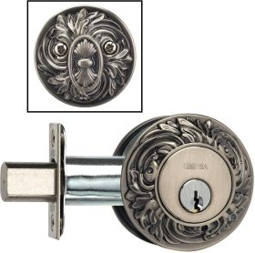 Item No.FLORDB (Ornate Auxiliary Deadbolt Kit - Solid Brass)