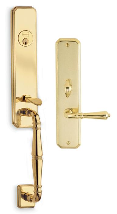 Item No.Manor w/ 752 trim (Exterior Traditional Mortise Entrance Handleset Lockset - Solid Brass)