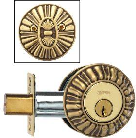 Item No.REEDDB (Ornate Auxiliary Deadbolt Kit - Solid Brass)