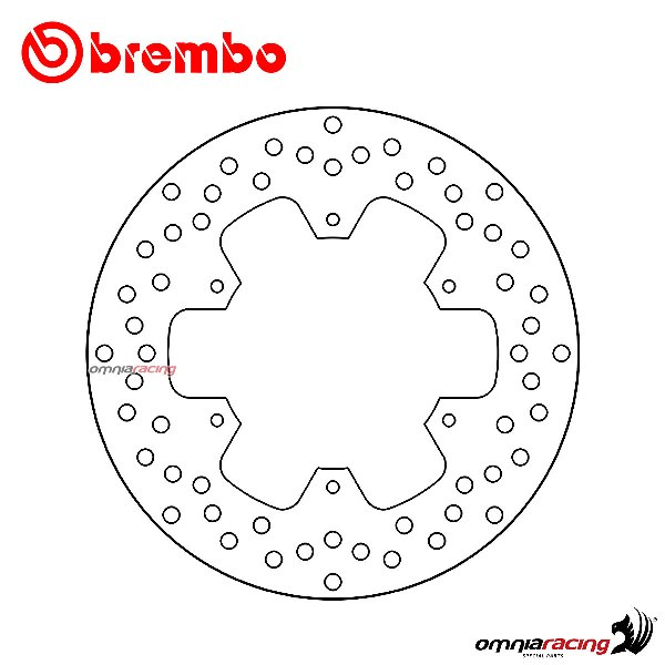 Brembo Disc Serie Oro Fixed Disc Rear For Yamaha Xtz 750
