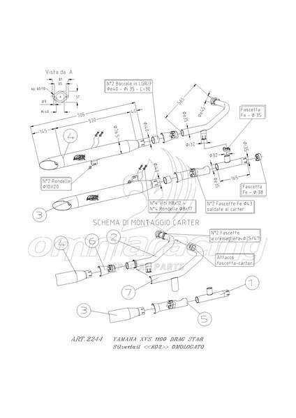 Leovince Silvertail Slip-on Chromed Homologated for Yamaha