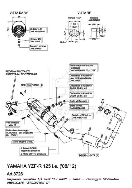 Impianto di Scarico Completo Leovince LV One Inox per
