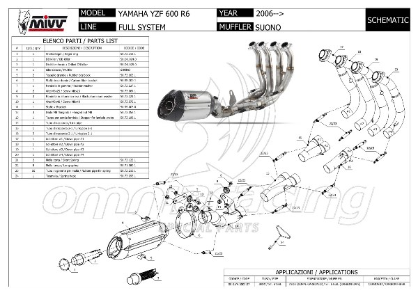 Mivv Suono Full Exhaust System Not Homologated 4x2x1 Inox