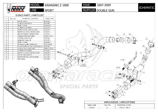 Mivv Double Gun Racing Full Titanium 2 Slip on Exhaust for