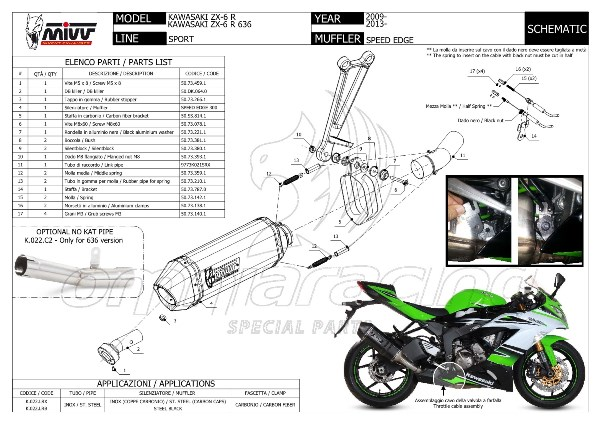 Mivv Speed Edge Stainless Steel Exhaust System Homologated