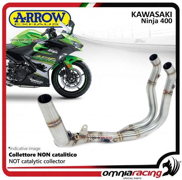 arrow collector stainless steel not homologated for kawasaki ninja 400 2018