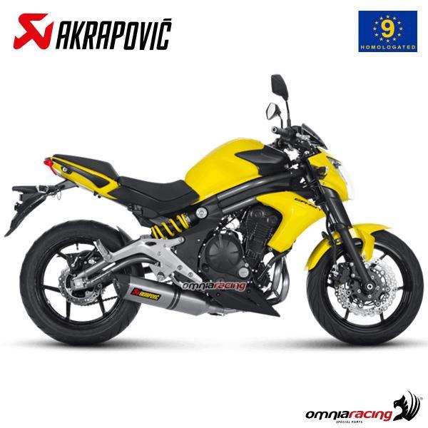 akrapovic full exhaust system approved titanium for kawasaki er6f er6n ninja 650 2012 2016