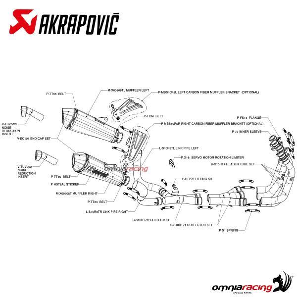 Akrapovic Evolution Titanium for Suzuki Gsx-r 1000 K9 2009