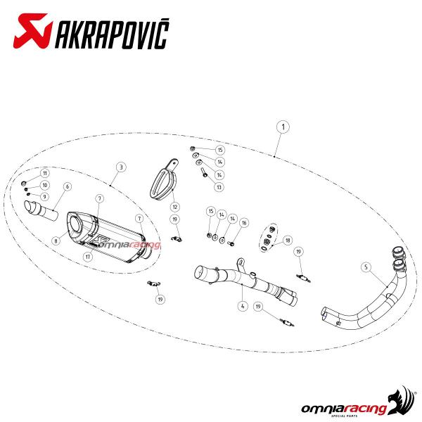 akrapovic full exhaust system racing carbon fibre for yamaha r3 2019