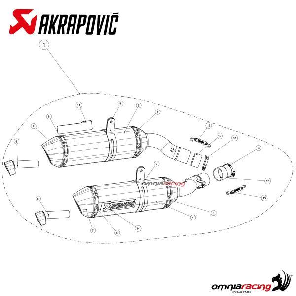 Akrapovic Slip On Carbonio per Kawasaki Z1000 2014 14