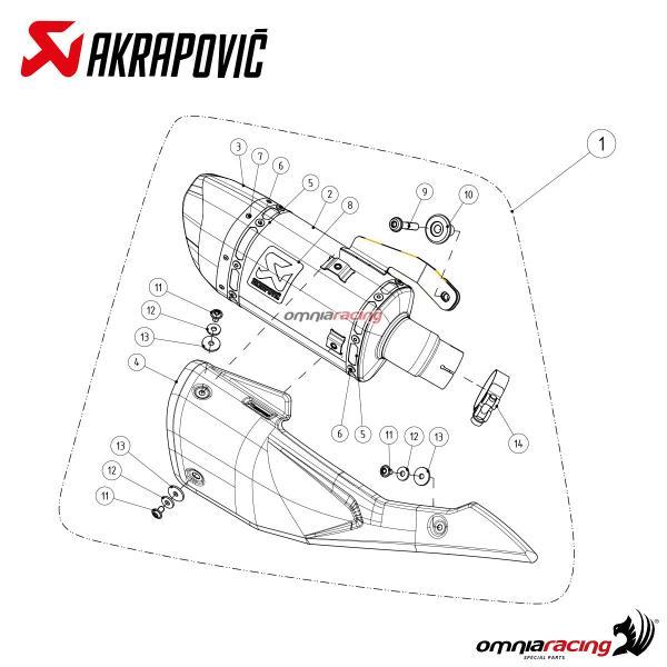 Akrapovic Exhaust Euro4 Approved Titanium for Suzuki
