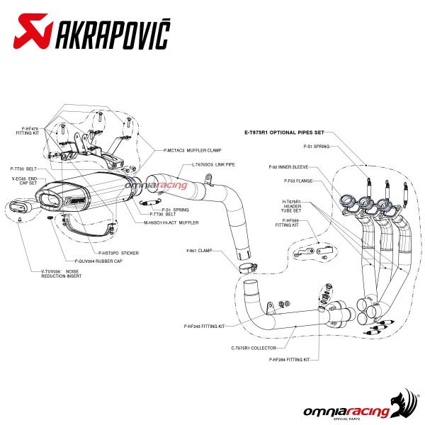 Akrapovic Slip On Carbon for Triumph Daytona 675 R 2006 06