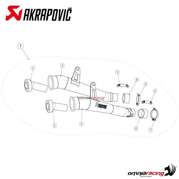 Akrapovic Megaphone Titanium for Kawasaki Z1000 2014 14