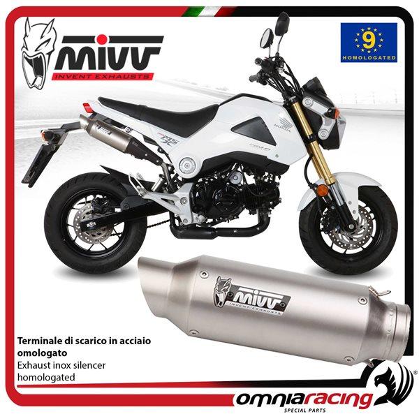 mivv gp exhaust slip on homologated inox for honda grom 125 2013