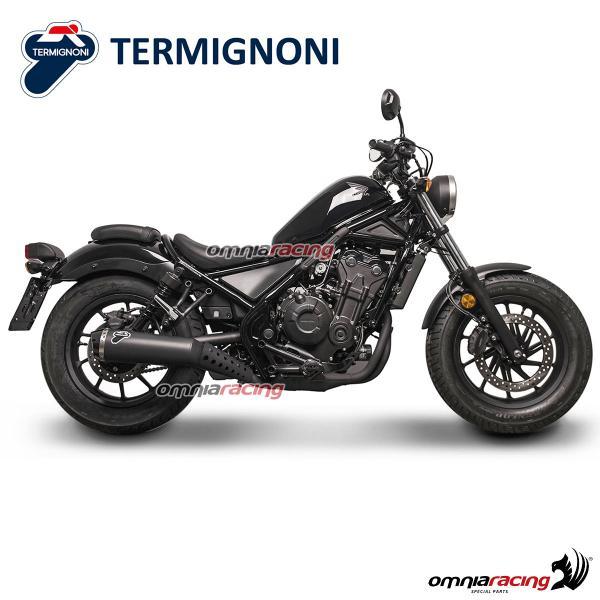 termignoni relevance steel exhaust slip on homologated for honda rebel 500 2018