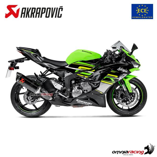 akrapovic exhaust euro4 approved carbon fibre for kawasaki zx6r ninja 2019