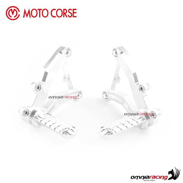 Adjustable Pilot Footrest Kit Motocorse Classic Style