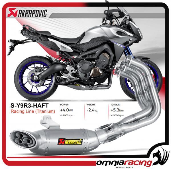 Akrapovic Stainless Steel for Yamaha Mt-09 Tracer Fj-09 Fj9 2015 Homologated Full Exhaust Sys