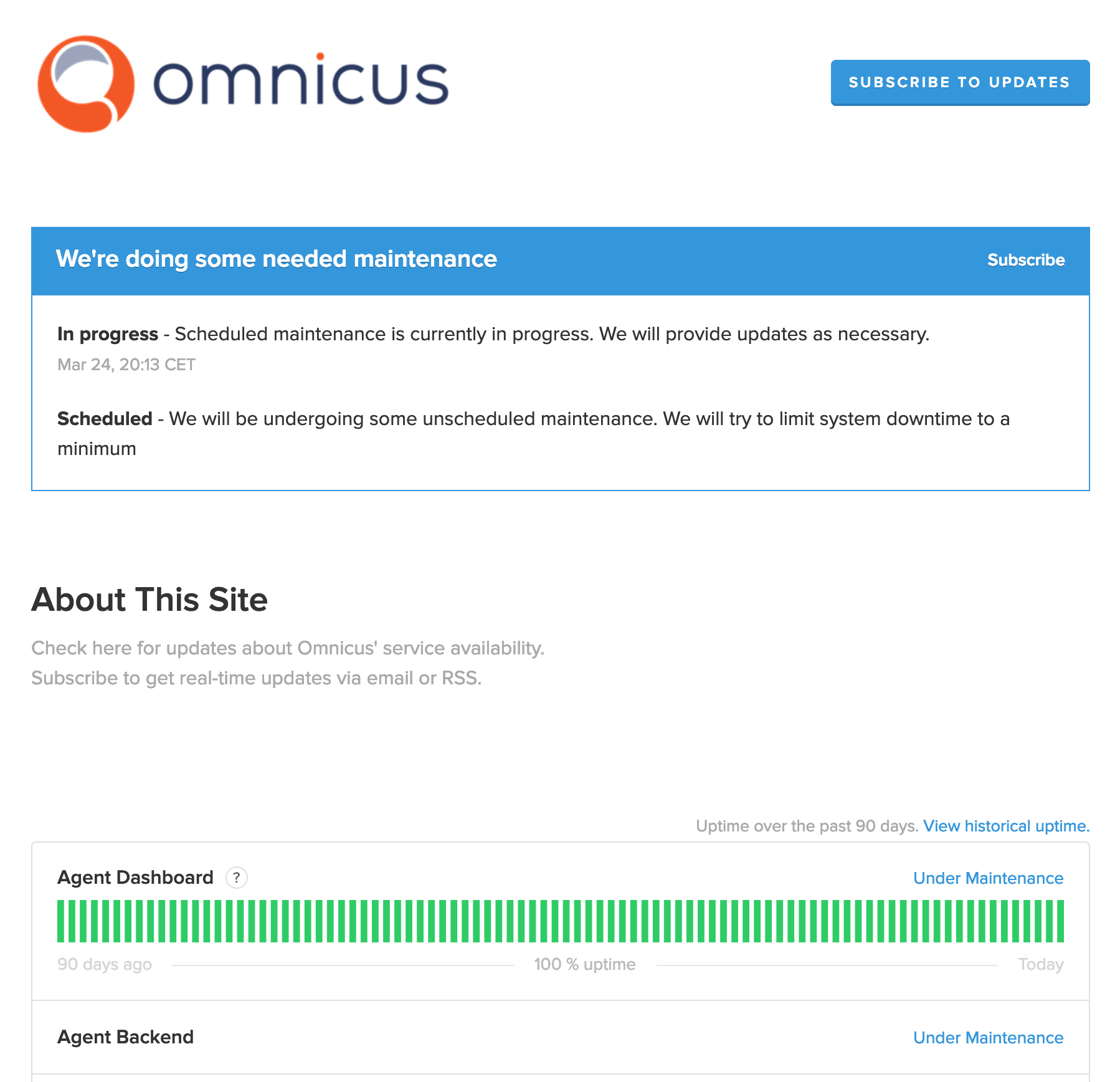 Product Update Migration To New Platform Status Page