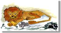 El león y el ratón