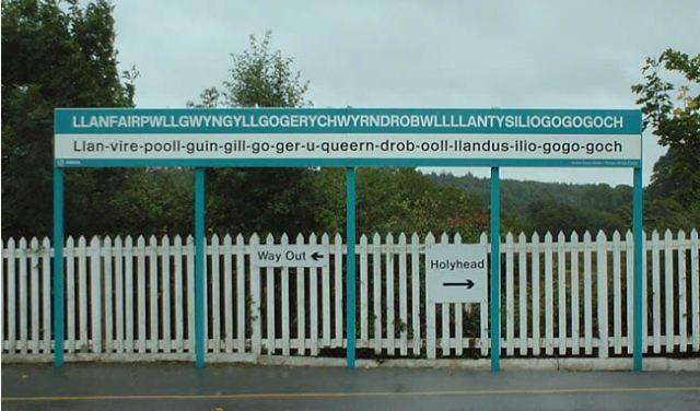 Llanfair Pwllgwyngyll Station sign