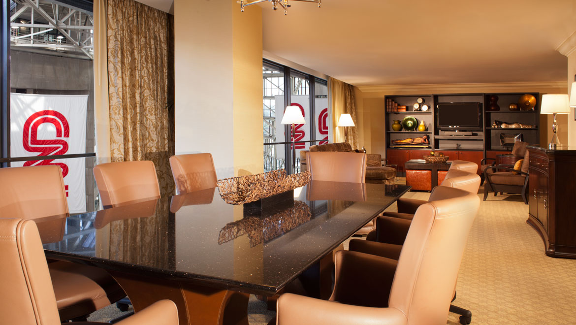 hotels with kitchens in atlanta ga kitchen cookware luxury suites omni hotel at cnn center suite