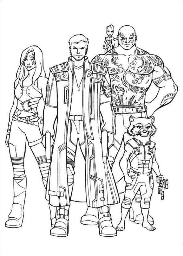 Avengers Kleurplaat Superhelden