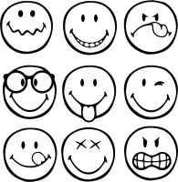 Emoji Kleurplaat Emoties
