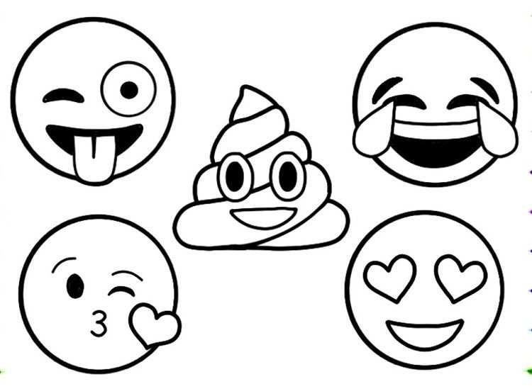 Kleurplaat Emoji