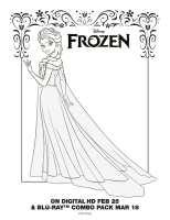 Kleurplaat Frozen 2 Elsa Paard