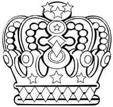 Kleurplaat Kroon Prinses