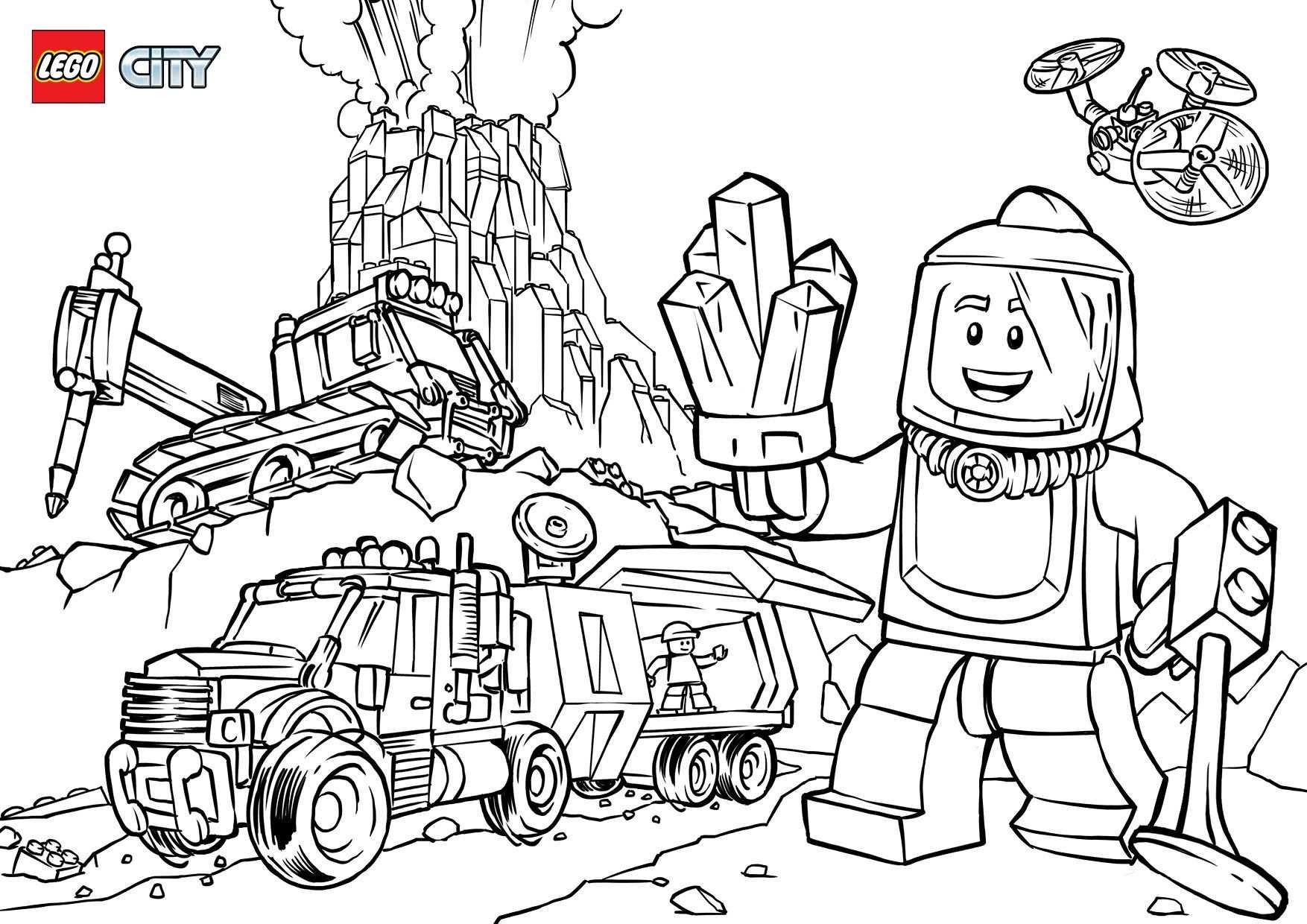 Kleurplaat Lego City Undercover