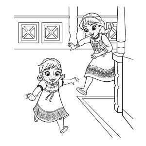 Kleurplaat Prinses Elsa En Anna