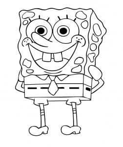 Kleurplaat Spongebob Octo