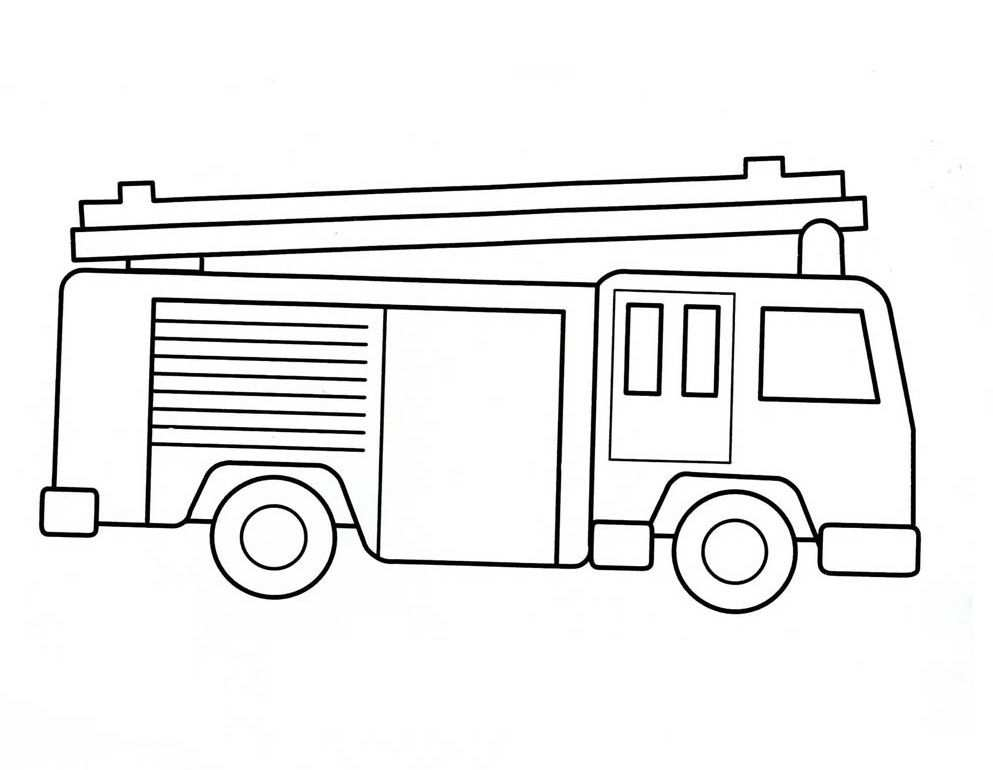Kleurplaat Vrachtwagen Met Aanhanger