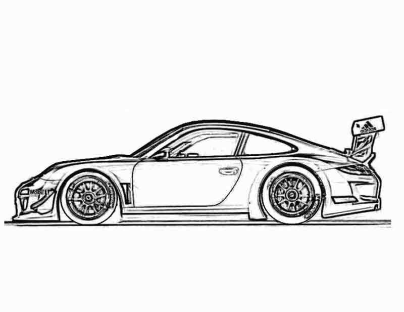 Porsche 911 Kleurplaat Auto
